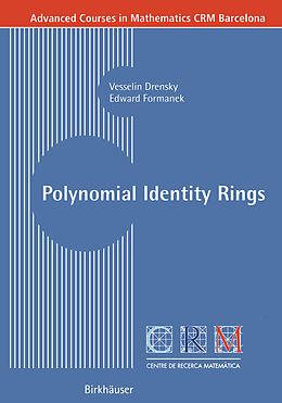 Kartonierter Einband Polynomial Identity Rings von Vesselin Drensky, Edward Formanek