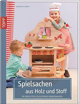 Spielsachen aus Holz und Stoff