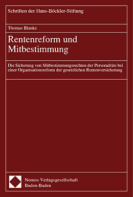 Geheftet Rentenreform und Mitbestimmung von Thomas Blanke