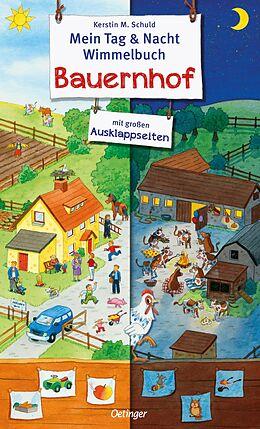 Mein Tag und Nacht Wimmelbuch Bauernhof