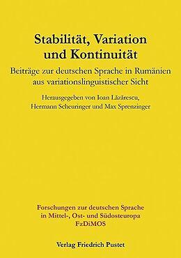 Fester Einband Stabilität, Variation und Kontinuität von Ioan Lazarescu, Hermann Scheuringer, Max Sprenzinger