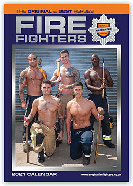 Kalender Fire Fighters - Feuerwehrmänner 2021 - A3 Format Posterkalender von Carousel Calendars