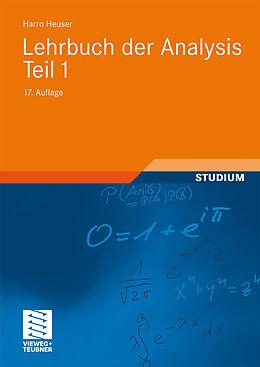 Lehrbuch der Analysis. Teil 1 [Version allemande]