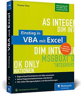 Kartonierter Einband Einstieg in VBA mit Excel von Thomas Theis