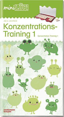 Geheftet miniLÜK Konzentrationstraining 1: für Vor- und Grundschulkinder / concentration training von