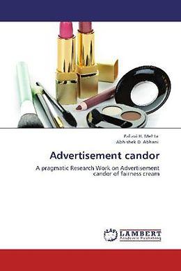Kartonierter Einband Advertisement candor von Pallavi H. Mehta, Abhishek D. Abhani