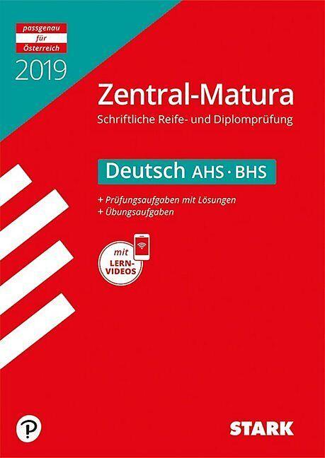 Zentral Matura 2019 Deutsch österreich Ahsbhs Buch Kaufen