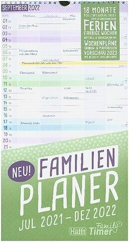 Spiralbindung FamilienPlaner 2021/2022 von