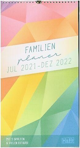 Spiralbindung FamilienPlaner Rainbow 2021/2022 von