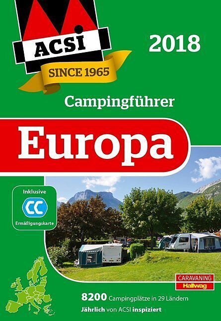 acsi internationaler campingf hrer europa 2018 buch. Black Bedroom Furniture Sets. Home Design Ideas