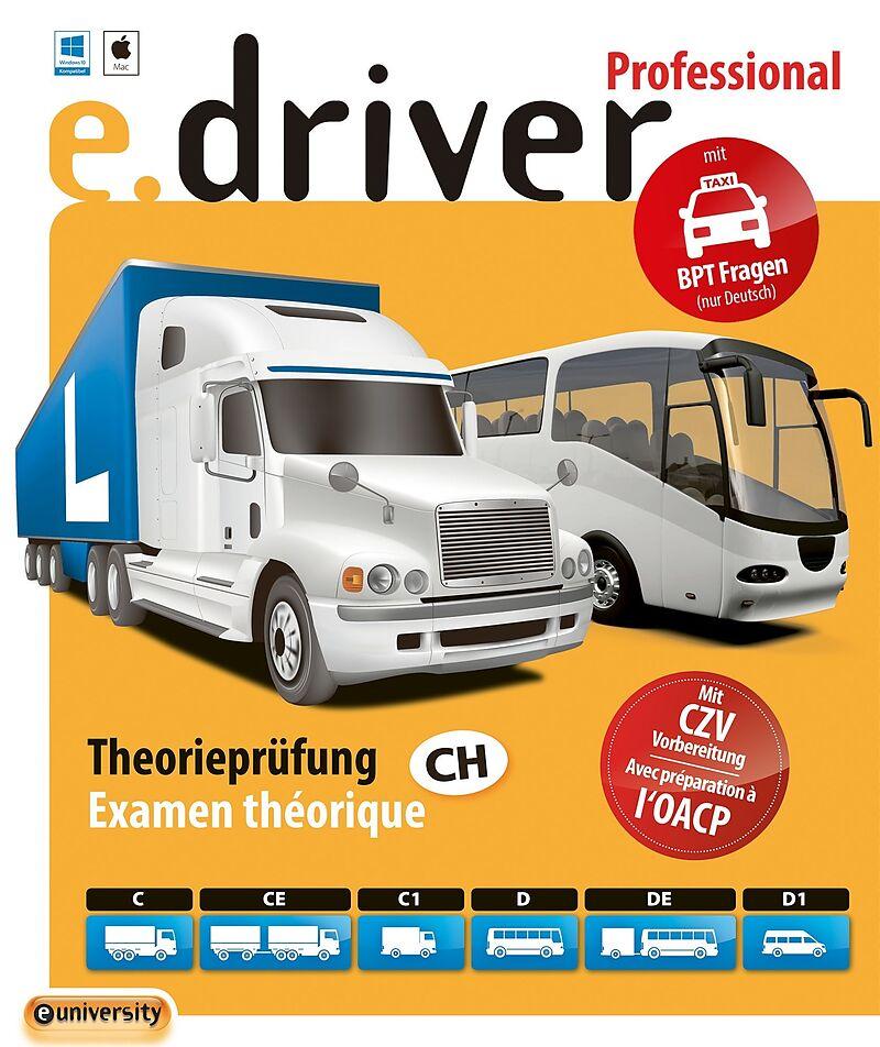 e.driver Professional V1.0 - 700 Fragen [Kat. C/CE/C1/D/DE/D1] [PC/Mac] (D/F)