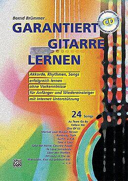 Kartonierter Einband Garantiert Gitarre lernen / Garantiert Gitarre lernen mit CD von Bernd Brümmer