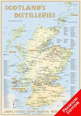 (Land)Karte Whisky Distilleries Scotland - Poster 70x100cm Premium Edition 600000 von Rüdiger Jörg Hirst