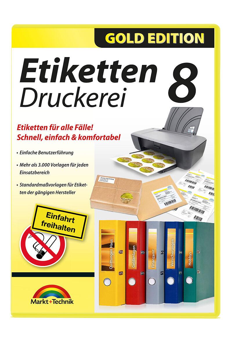 Gold Edition: Etiketten Druckerei 8 [PC] (D) - Diverses - Software ...