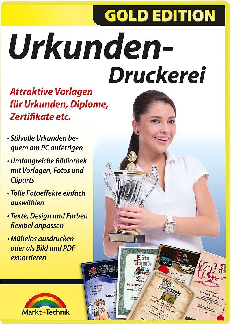 Gold Edition: Urkunden-Druckerei [PC] (D) - Diverses - Software ...
