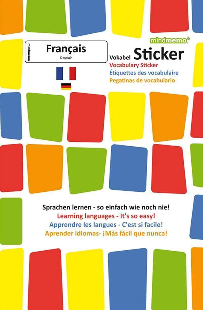 Mindmemo Vokabel Sticker Grundwortschatz Französisch Deutsch