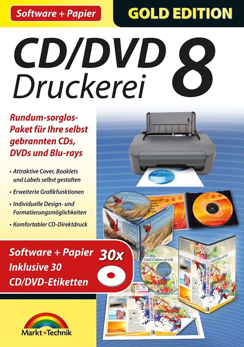 Gold Edition: CD/DVD Druckerei 8 mit Papier [PC] (D) - Sonstige ...