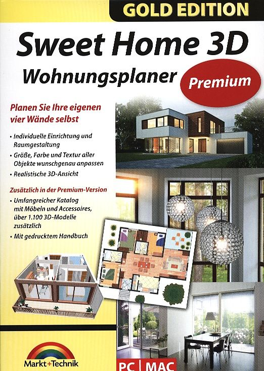 gold edition sweet home 3d wohnungsplaner premium pc mac d cad raumplanung software. Black Bedroom Furniture Sets. Home Design Ideas