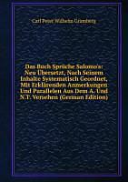 Das Buch Spruche Salomou0027s