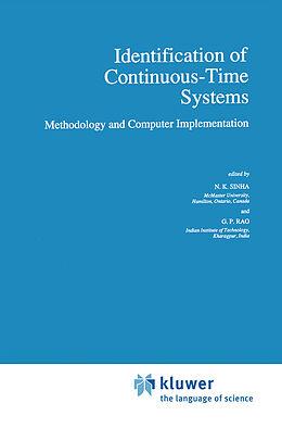 Kartonierter Einband Identification of Continuous-Time Systems von