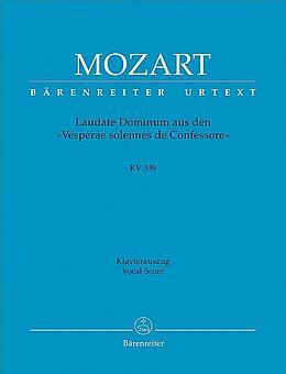 Wolfgang Amadeus Mozart Notenblätter Laudate dominum KV339