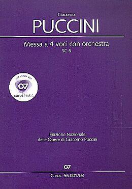 Giacomo Puccini Notenblätter Messa di Gloria SC6