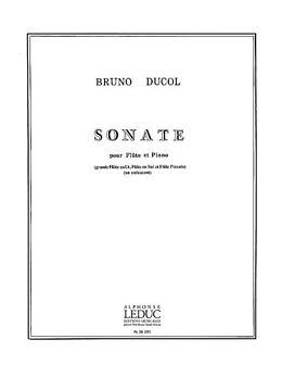 Bruno Ducol Notenblätter Sonate pour flûte et piano