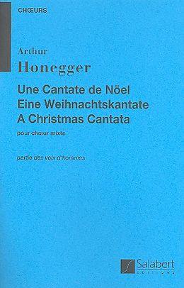 Arthur Honegger Notenblätter Une cantate de Noel für Bariton