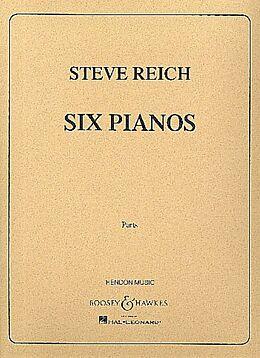 Steve Reich Notenblätter Six Pianos