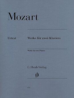 Wolfgang Amadeus Mozart Notenblätter Werke für 2 Klaviere