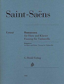 Camille Saint-Saëns Notenblätter Romanzen für Horn und Klavier