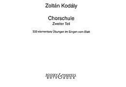 Zoltan Kodaly Notenblätter Chorschule Band 2