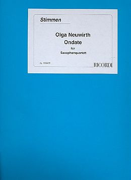 Olga Neuwirth Notenblätter Olga Neuwirth ONDATE 1