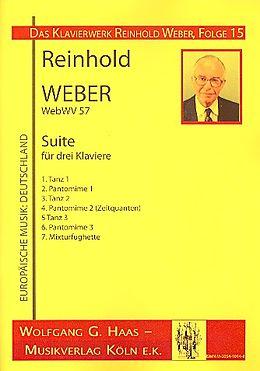 Reinhold Weber Notenblätter Suite WebWV57 für 3 Klaviere