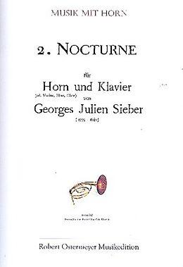 Georges Julien Sieber Notenblätter Nocturne Nr.2 für Horn und Klavier