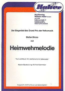 Wolfgang Andreas Lindner jr. Notenblätter Heimwehmelodie für 2 Trompeten