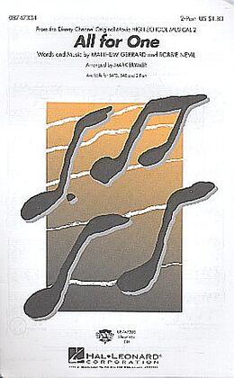 Matthew Gerrard Notenblätter All for one for 2-part chorus