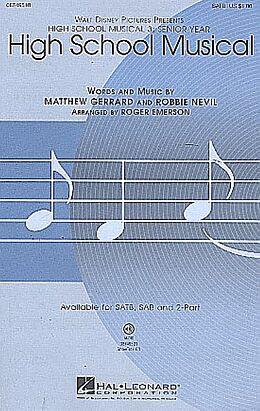 Matthew Gerrard Notenblätter High School Musical for mixed chorus