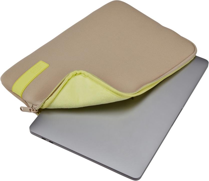 Case Logic Reflect Laptop Sleeve [14 inch] - plaza taupe/sun-lime