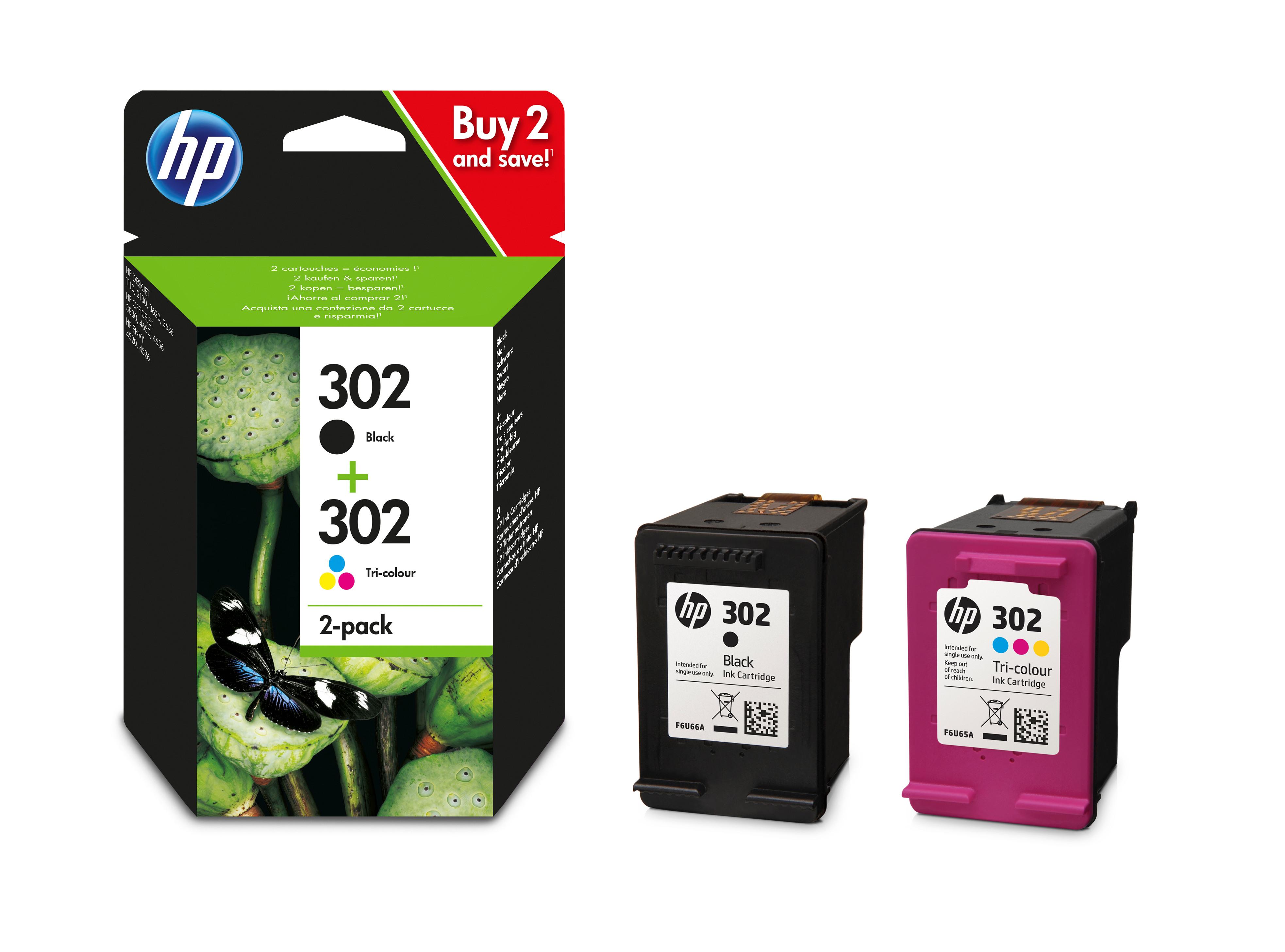 HP Combopack 302 BK/color X4D37AE OfficeJet 3830 190/165 Seiten