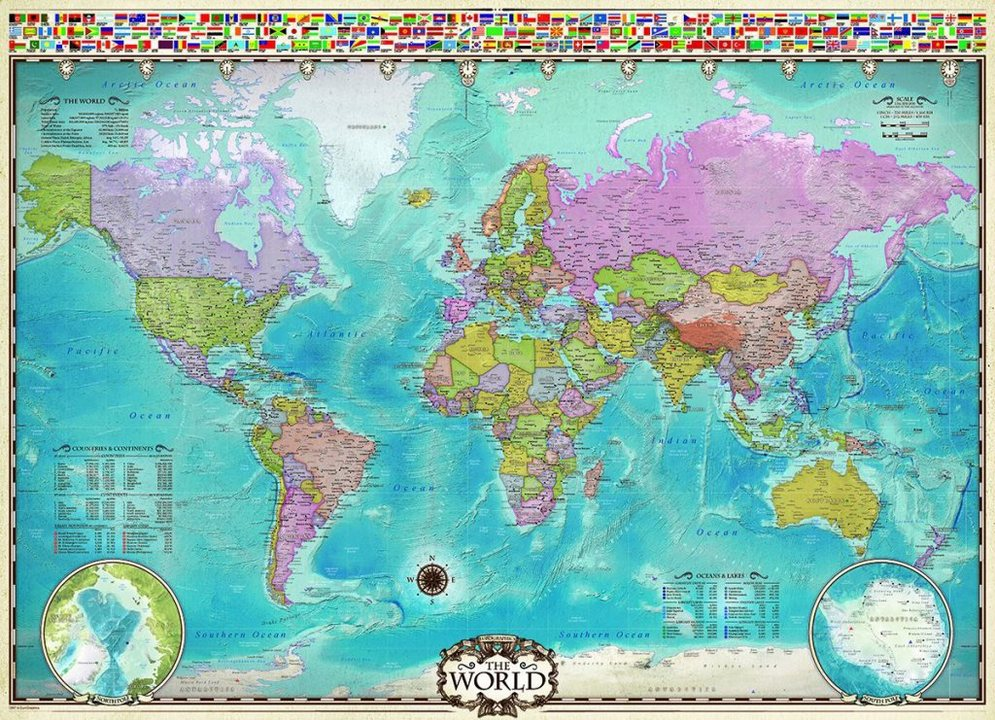 Map of the World - Puzzle [1000 Teile]
