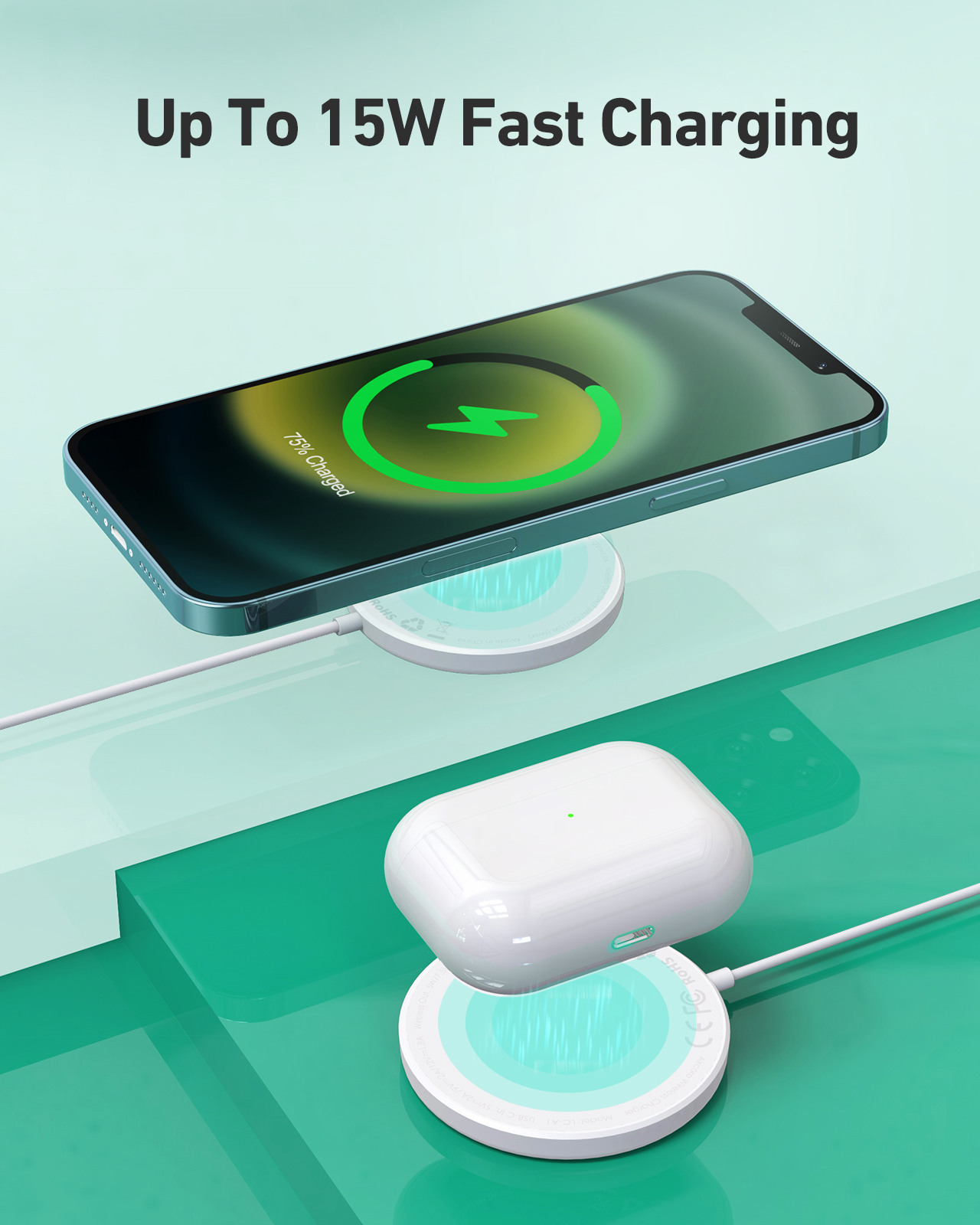 AUKEY Aircore 15W Magnetic Charger LC-A1-WT Wireless, white