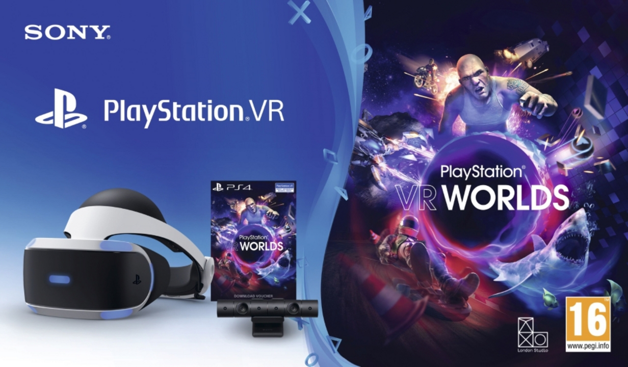 Playstation 4 VR Bundle: Headset + Camera + VR Worlds [PS4] (D/F/I)