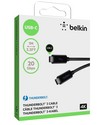 Belkin Thunderbolt 3 Cable [USB-C/3.1, 20Gbps, 60W, 4K], 1m - black