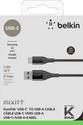 MIXIT Premium DuraTek USB-C to USB-A Cable, 1.2m - black