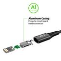 MIXIT Premium DuraTek USB-C to USB-A Cable, 1.2m - gold