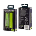 CasePower 2600mAh Portable Battery w/ ClickToGo microUSB Cable - lime-green