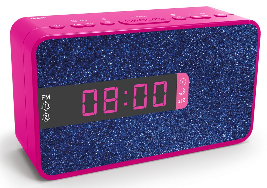 Bigben - Dual Radio Alarm Clock RR16 - Unicorn 3 [incl. 3 front panels]
