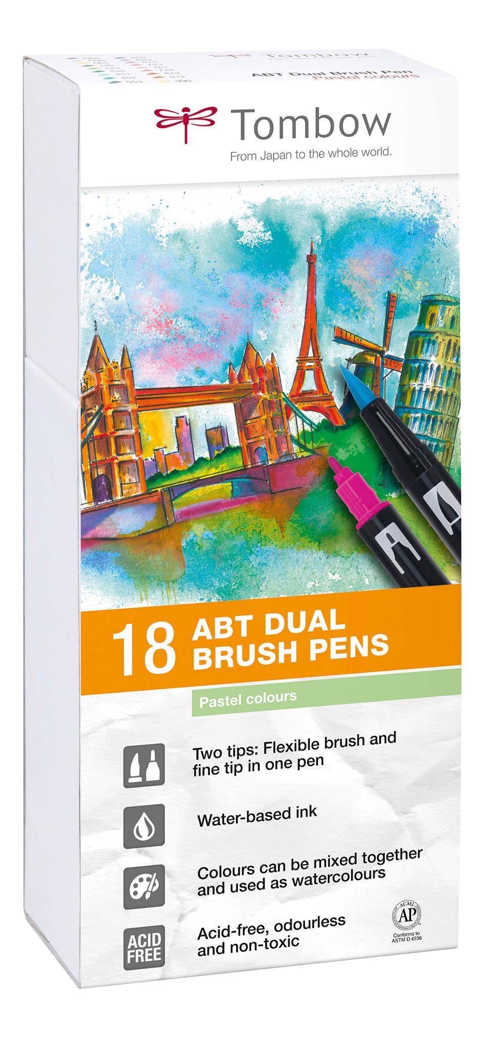 TOMBOW ABT Dual Brush Pen ABT-18P-5 Set à 18