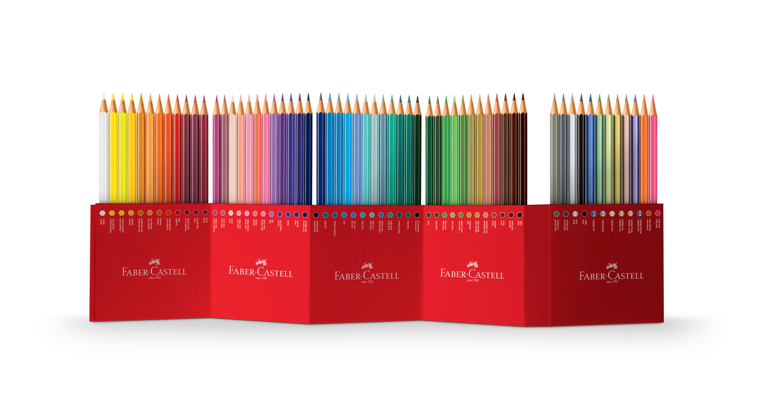 FABER-CASTELL Crayon de couleur Castle 111260 60 pcs, Set